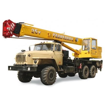 А/кран 25 тн «Галичанин» ВЕЗДЕХОД 6х6 (длина стрелы 22 метра) на базе а/м УРАЛ