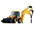 Ямобур на базе трактора JCB, стрела 5 метров (глубина до 4 метров, диаметры 200, 250, 300, 330, 400, 500, 600 мм)