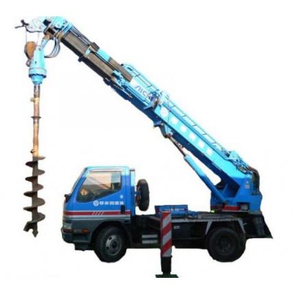 Аренда японского ямобура, стрела 12 метров (глубина до 8 метров, диаметры 100-1000 мм)